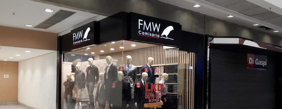 Fachada ACM Vazada com Iluminação Interna - FMW Camisaria