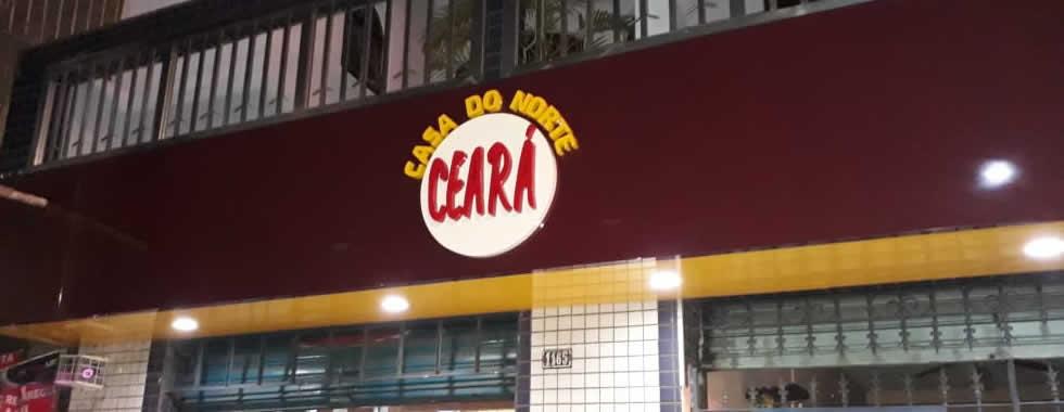 Fachada em ACM com Letras em PVC - Casa do Norte Ceará