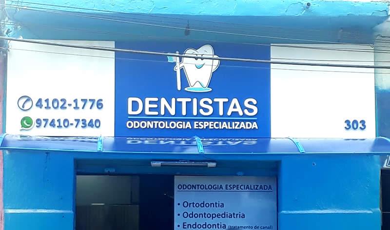 Fachada em ACM com Letras PVC - Dentista